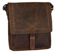 FFelsenfest Vintage Überschlagtasche XL antikbraun