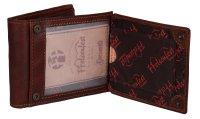 FFelsenfest Vintage Geldbörse Querformat cognac