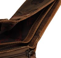 FFelsenfest Vintage Geldbörse Damen antikbraun