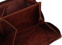FFelsenfest Vintage Geldbörse Damen cognac