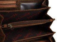 FFelsenfest Vintage Damen Geldbörse groß antikbraun