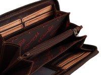 FFelsenfest Vintage Damen Geldbörse groß espresso