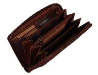 FFelsenfest Vintage Damen Geldbörse groß cognac