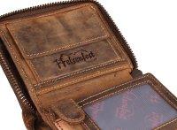 FFelsenfest Vintage Geldbörse Hochformat antikbraun