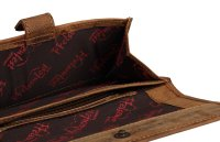 FFelsenfest Vintage Geldbörse Damen groß antikbraun