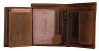 FFelsenfest Vintage Geldbeutel Hochformat antikbraun