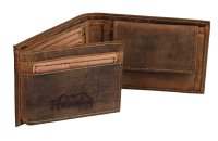 FFelsenfest Vintage Geldbörse Querformat antikbraun
