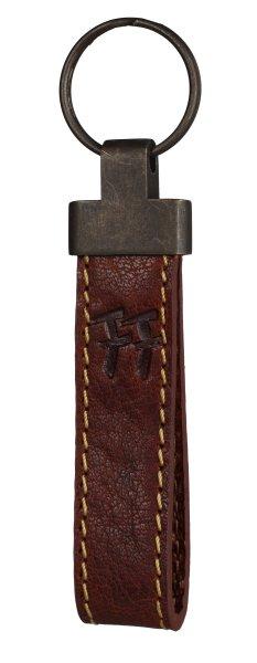 FFelsenfest Vintage Schlüsselanhänger cognac