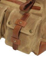 FFelsenfest Canvas Vintage  Businesstasche  khaki