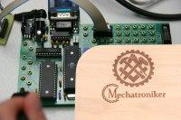 Brotzeitbrett mit Zunft Zeichen  I Geschenk für Handwerker-Mechatroniker I 25,5x14,5x1,3cm