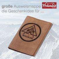 FFelsenfest Ausweistasche mit Zunft-Motiv Maurer