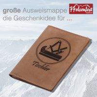 FFelsenfest Ausweistasche mit Zunft-Motiv Tischler