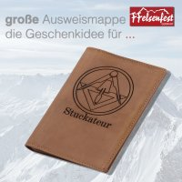 FFelsenfest Ausweistasche mit Zunft-Motiv Stuckateur