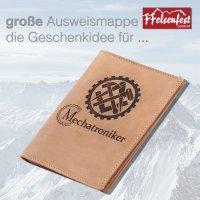 FFelsenfest Ausweistasche mit Zunft-Motiv Mechatroniker