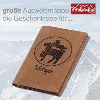 FFelsenfest Ausweistasche mit Zunft-Motiv Metzger