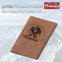 FFelsenfest Ausweistasche mit Zunft-Motiv Dachdecker