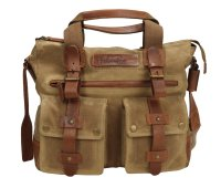 FFelsenfest Canvas Vintage  Businesstasche  khaki