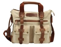 FFelsenfest Canvas Vintage  Business Tasche offwhite